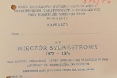 Zaproszenie na Sylwestra, Komitet Miejski PZPR.