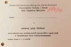 Zaproszenie na zabawę przy choince, Książnica Miejska w Toruniu.